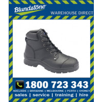 Blundstone Style 313 Black Print Leather Lace Up Safety Boot