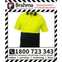 Brahma Portland Short Sleeve Polo HiVis Flouro Safety Workwear Tee