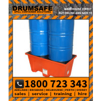 DRUMSAFE ECONOPALLET - 2 DRUM Drumsafe Spill Prevention Secondary Containment