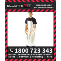 Elliotts Aluminised KEVLAR UNLINED APRON LARGE Furnace FR Welding Protective Clothing Workwear (AKA4836U)