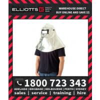 Elliotts Aluminised PREOX HOOD HELMET Furnace FR Welding Protective Clothing Workwear (APH29C)