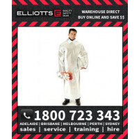 Elliotts Aluminised PREOX LINED CLOSED BACK SMOCK Furnace FR Welding Protective Clothing Workwear (APS50WL)