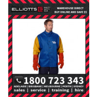 Elliotts Blue Max FR Cotton WELDING JACKET LEATHER SLEEVES (NPWJ30CS)
