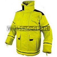 Elliotts E Series Firefighting Coat NOMEX 3D LIME REINFORCED Thermal Lined Fire Resistant Protection Workwear