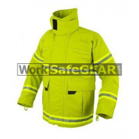 Elliotts E Series Firefighting Coat NOMEX 3D LIME Thermal Lined Fire Resistant Protection Workwear