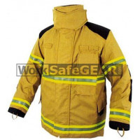 Elliotts X Series Firefighting Coat PBI GOLD HEAVY DUTY REINFORCED Thermal Lined Fire Resistant Protection Workwear