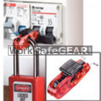 Miniature Circuit Breaker Lockout (Red Tab) - Wide Toggles (LO M S2391 WSG)