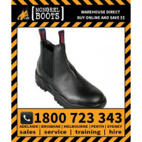 Mongrel Black Elastic Sided Workboot Safety Work Boot Victor Footwear Shoe (240011)
