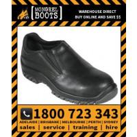 Mongrel Black Slip On Shoe Safety Work Boot Victor Footwear Shoe (315085)