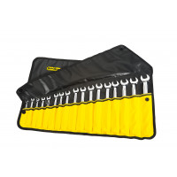 RX03B612BK -17 PCE STANDARD SPANNER ROLL BLACK WITH YELLOW POCKETS pic1.jpg
