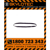 Skylotec attachment sling loop 35 kN - Top stitched BLACK hose strap 25mm wide (L-0010-SW-0.8) 0.8m length