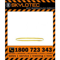 Skylotec attachment sling Loop 35 kN - Top stitched YELLOW hose strap 25mm wide (L-0010-GE-0.4) 0.4m length