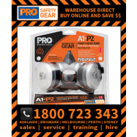 TRADIES KIT Assembled Half Masks with A1P2 Cartridges in Blister Pack (HMA1P2)