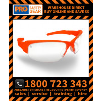 ProChoice Throttle Hi Vis Orange Frame Clear Lens (8080O) Medical & Industry use