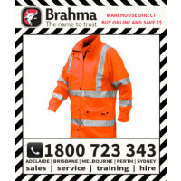 Typhoon Long Hi Vis Waterproof 3/4 Coat with Reflective Tape