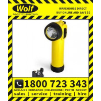 Wolf Safety Lamp ATEX with LED TR-30+ 2 Cell LED Torch Right Angle T4 with Indicator (WOLF531)
