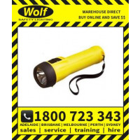 Wolf Safety Lamp ATEX with LED TS-30+ 2 Cell LED Torch Straight T4 with Indicator (WOLF530)