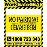 (STCP102) STENCIL NO PARKING_RESERVED 1350mm X 650mm