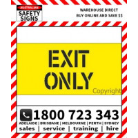 (STCP109) STENCIL EXIT ONLY 1350X650mm POLY