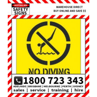 (STS313) STENCIL NO DIVING+ PICTO 650SQR POLY