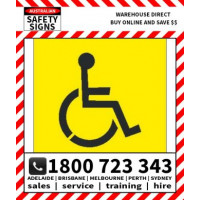 (STS327) STENCIL DISABLED SYMBOL 650SQR POLY