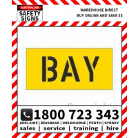 (STSU410) STENCIL BAY 325X680 TEXT 200MM H