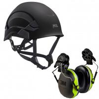 Petzl Vertex AS/NZ 1801 Compliant Helmet Black (A010AA03) & 3M Earmuffs X4P3G/E