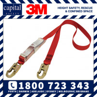 Shock Absorbing Webbing Lanyard - Single Tail 1.5m