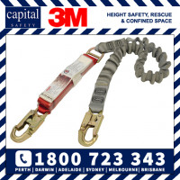 Shock Absorbing Elasticated Webbing Lanyard - Single Tail 2.0m