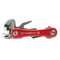 KeySmart Rugged Alum-Red with Belt Clip,Bottle Opener