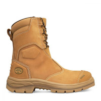 Oliver 200mm Hi-Leg Wheat Zip Sided Boot (55-385)