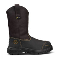 Oliver 240mm Brown Pull On Riggers Boot Waterproof (65-493)