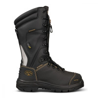 Oliver 350mm Black Laced In Zip Mining Boot - Waterproof (65-791)