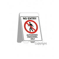 AUTHORISED PERSONNEL ONLY A-Frames Fluteboard Sign