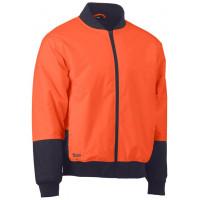 Bisley Two Tone Hi Vis Bomber Jacket Orange/Navy