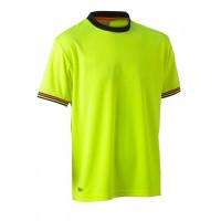 Bisley Hi Vis Polyester Mesh Short Sleeve T-Shirt Yellow