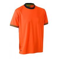 Bisley Hi Vis Polyester Mesh Short Sleeve T-Shirt Orange