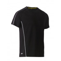 Bisley Cool Mesh Tee Black with reflective piping
