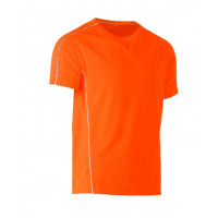 Bisley Cool Mesh Tee Hi Vis Orange with reflective piping