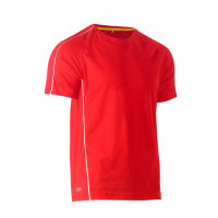 Bisley Cool Mesh Tee Red with reflective piping