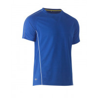 Bisley Cool Mesh Tee Royal with reflective piping