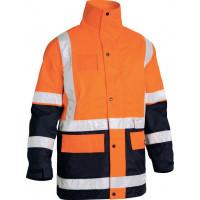 Orange/Navy Bisley 5 in 1 Rain Jacket (BK6975)