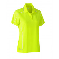 Bisley Womens Cool Mesh Polo Shirt Hi Vis Yellow
