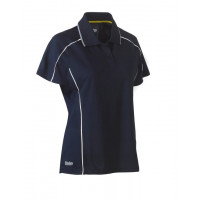 Bisley Womens Cool Mesh Polo Shirt Navy