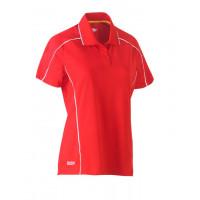Bisley Womens Cool Mesh Polo Shirt Red