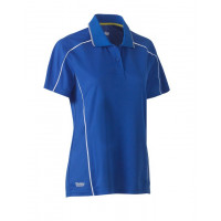 Bisley Womens Cool Mesh Polo Shirt Royal