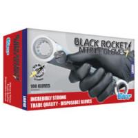 (Box of 20) The Glove Company LARGE Black Rocket Nitrile Gloves (130203)
