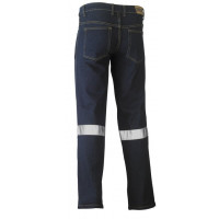 Bisley 3M Taped Rough Rider Denim Stretch Jeans Navy