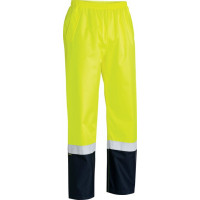 Bisley Hi Vis Yellow Taped 2 Tone Shell Rain Pant (BP6965T)