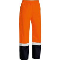 Bisley Hi Vis Orange Taped 2 Tone Shell Rain Pant (BP6965T)